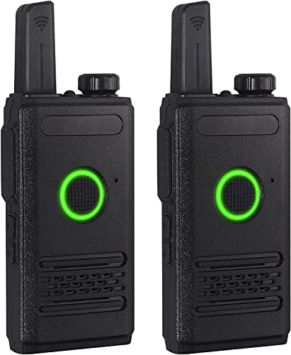 eSynic Rechargeable Walkie Talkies 2 Pack Two Way Radios UHF 400-470MHz with Li-ion Battery and USB Charger Support VOX CTCSS DCS, 16 Channel Walkie Talkie