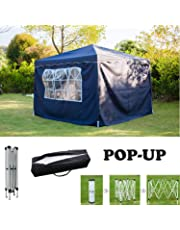 AutoBaBa All Seasons Gazebos, Garden Gazebo Marquee Tent with Side Panels, Fully Waterproof, Powder Coated Steel Frame for Outdoor Wedding Garden Party