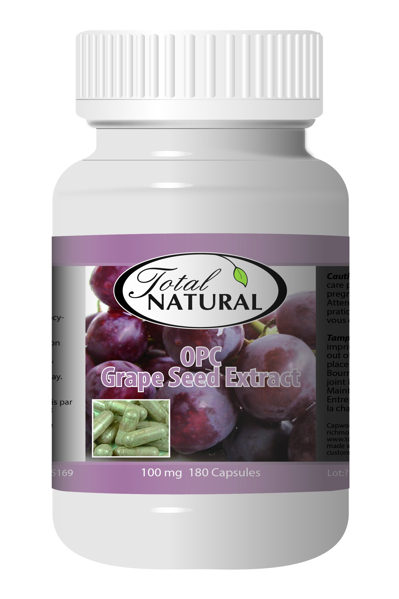 OPC Grape Seed Extract 100mg 180c - [12 bottles] Liver Care