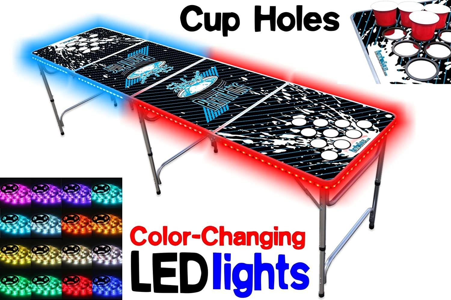 light up beer pong table