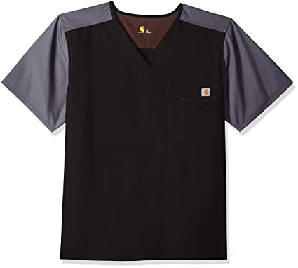 5d8e1c48 Amazon.com: Carhartt Men's Ripstop Color-Block Utility Scrub Top ...