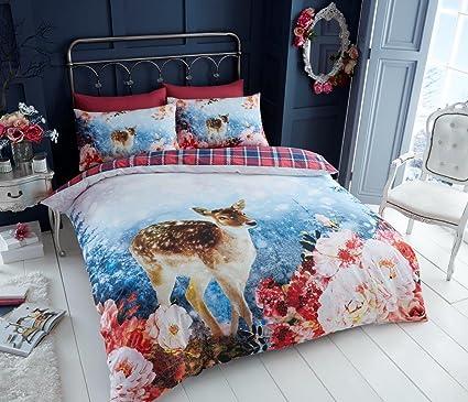 Santa Campervan Christmas XMAS Santa Snow Duvet Cover//Quilt Bedding Set Pillow