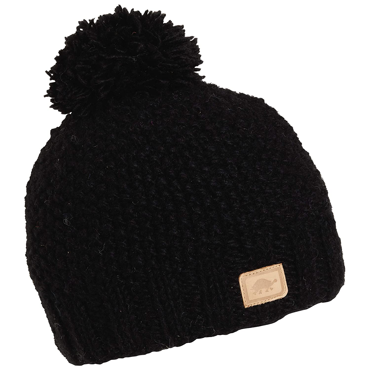 Amazon.com   Turtle Fur Nayan Nepal Hand Knit Wool Beanie Lined Fleece  Black   Sports   Outdoors d313bd8a066