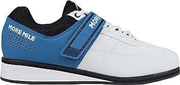 More Mile More Lift 4 - Zapatillas de Levantamiento de Peso, Color Blanco, 13