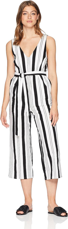 MINKPINK Womens Stripe Linen Jumpsuit