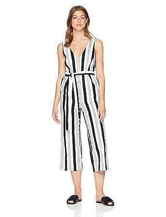 9173c5750d1 Amazon.com  MINKPINK Women s Stripe Linen Jumpsuit  Clothing