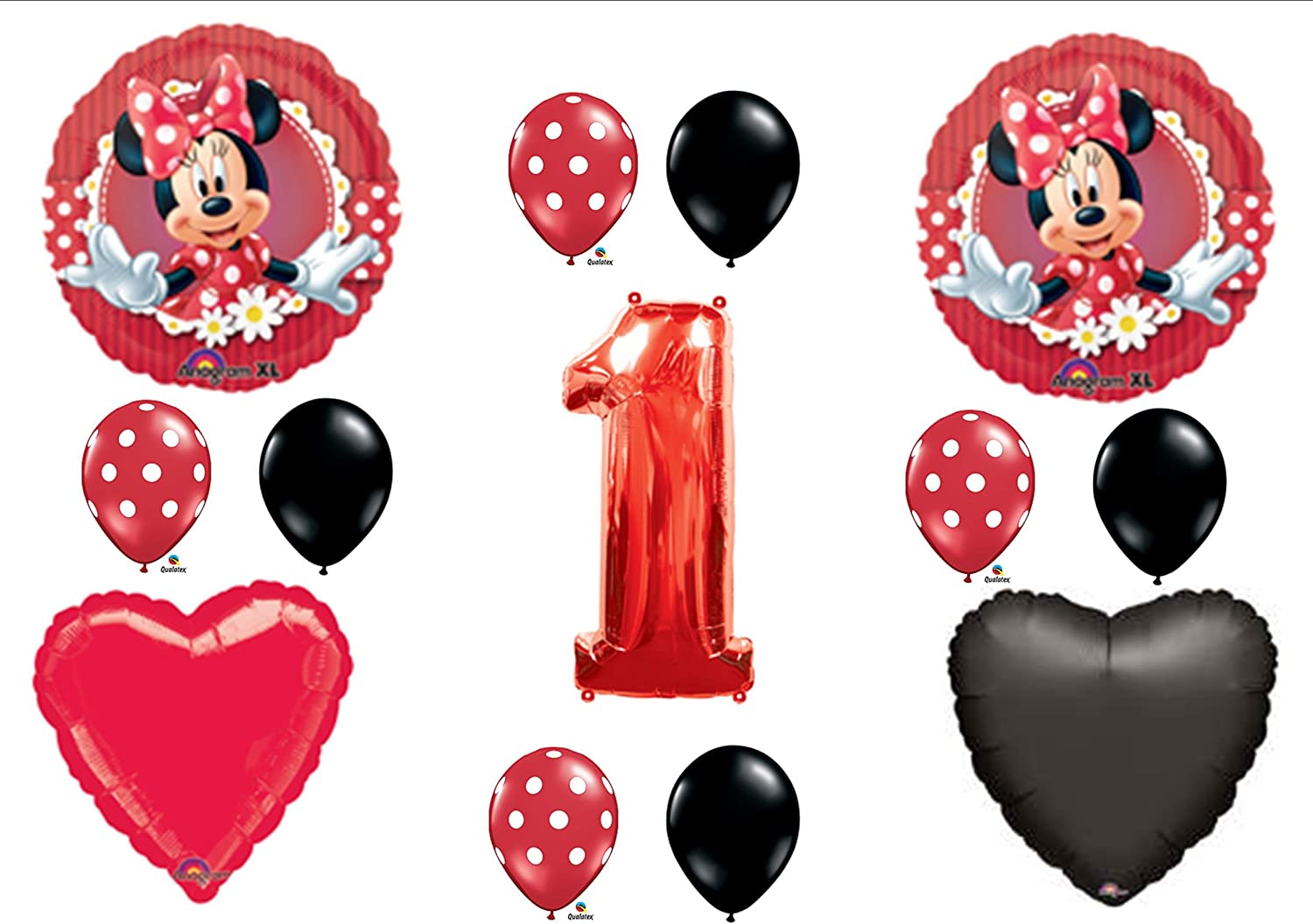 Mad About Minnie Mouse 1st First Birthday Party Balloons Decorations Supplies