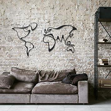 Verden unique design metal world map geometric wall art office home wall decor