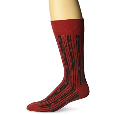 Ozone Men's Bark Beetle Sock, Red, 10-13: Clothing
