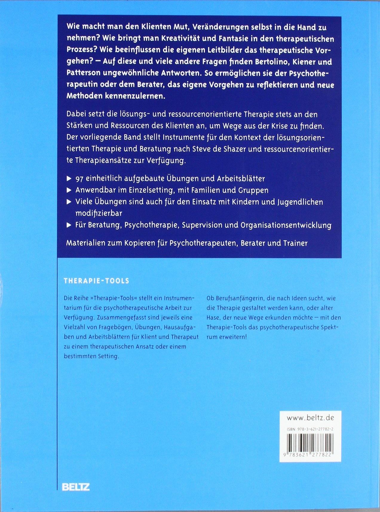 Therapie-Tools Lösungs- und ressourcenorientierte Therapie: Amazon ...