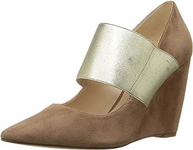 887a7d35d404 Nine West Women s Vondra Natural Light Gold Suede Shoe  Amazon.co.uk ...
