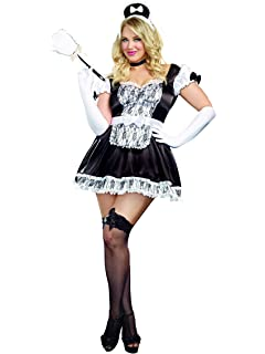 5986a81c07a Amazon.com: Dreamgirl Women's Plus-Size Keep It Clean Maid Costume ...
