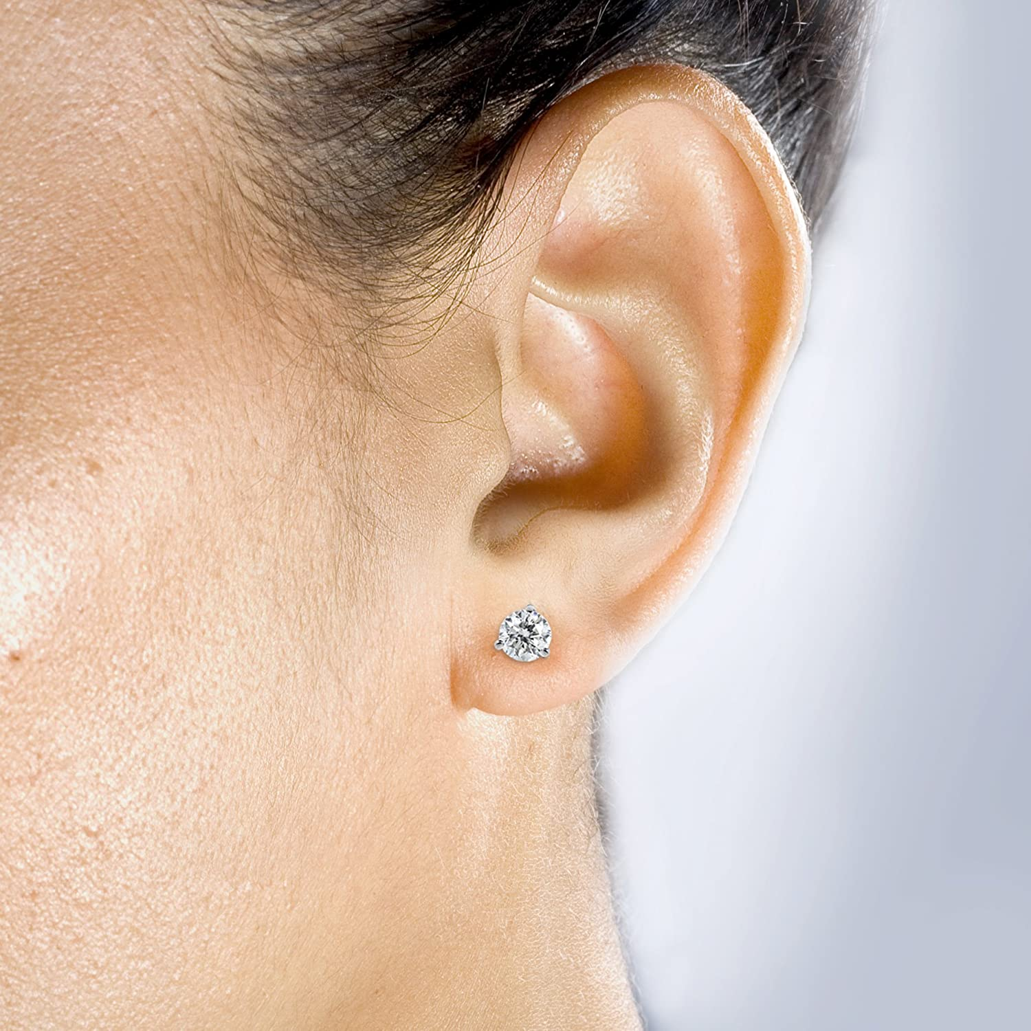 forever cushion lab created w earrings brilliant pin cut gold moissanite ct t stud white