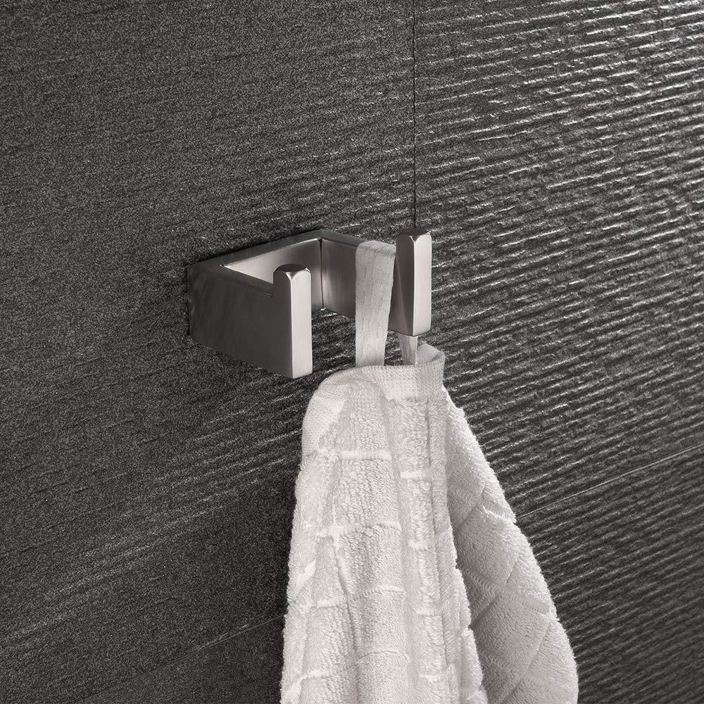 Porta Asciugamani 304 Acciaio Inossidabile Bagno da Porta Asciugamani Accessori per il Bagno Lolypot Portasciugamani da parete con doppi ganci