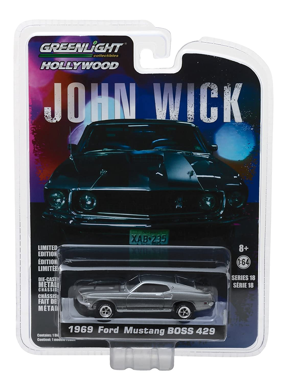 Greenlight 1 64 Hollywood Series 18 John Wick Movie 2014 1969 Ford Mustang Boss 429 Die Cast Vehicle