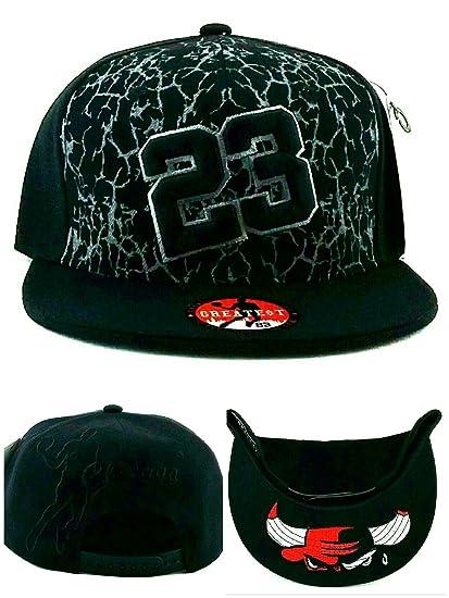 Chicago New Greatest 23 MJ agrietada Jordan Bulls negro 687d79406f6