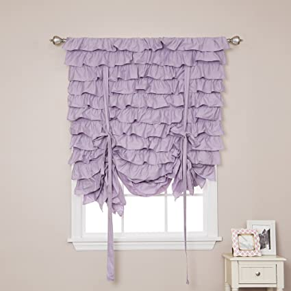 White Cotton Ruffle Curtain Collection 84 07 Lilac