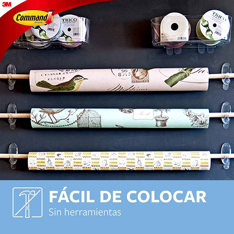 Command 17093CLR Gancho grande con tiras transparente
