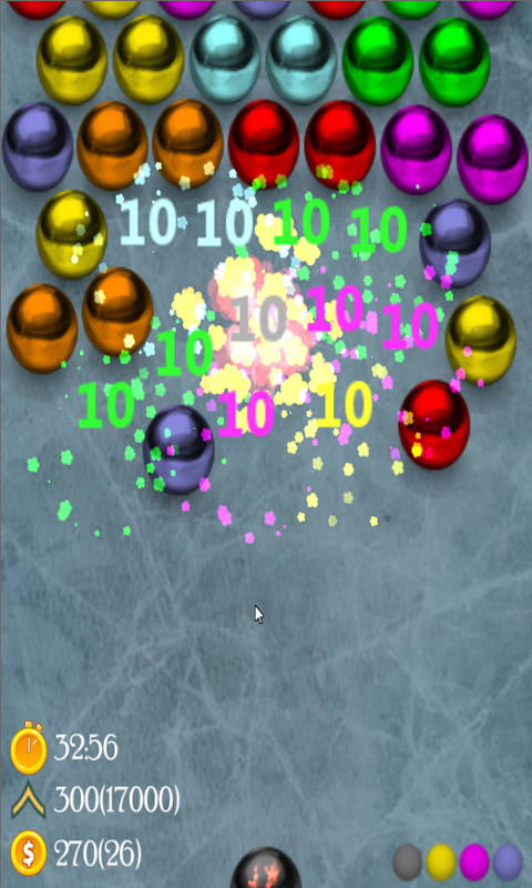 """Magnetic balls"" puzzle game"