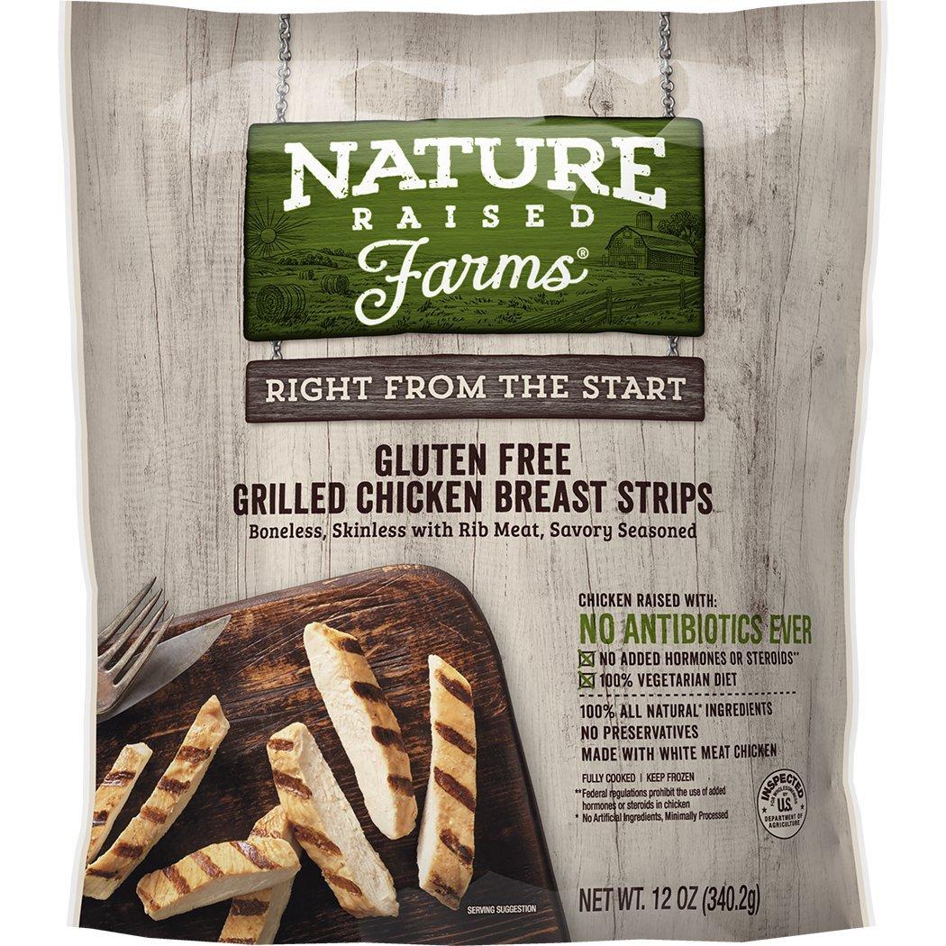 Natureraised Farms Gluten Free Grilled Chicken Breast Strips 12 Oz