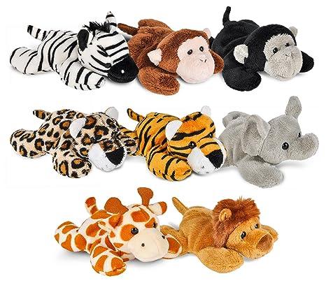 amazon com wildlife tree mini small stuffed animals bundle of zoo