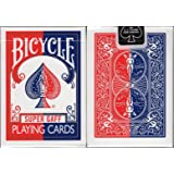 Super Gaff Bicycle Playing Cards - Blue & Red