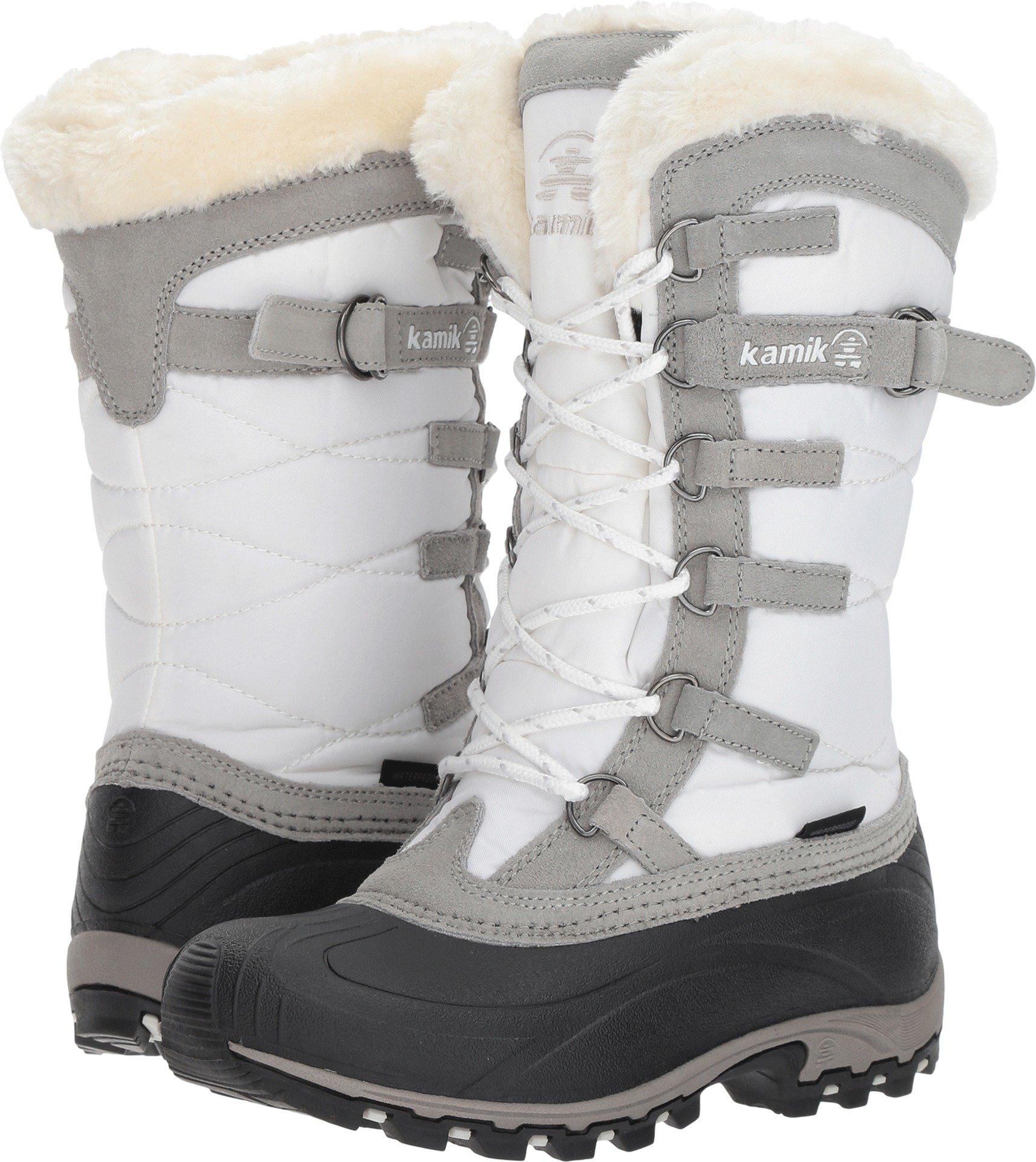 Kamik Women's Snowvalley Winter Snow Boot,White WH2,6 M US