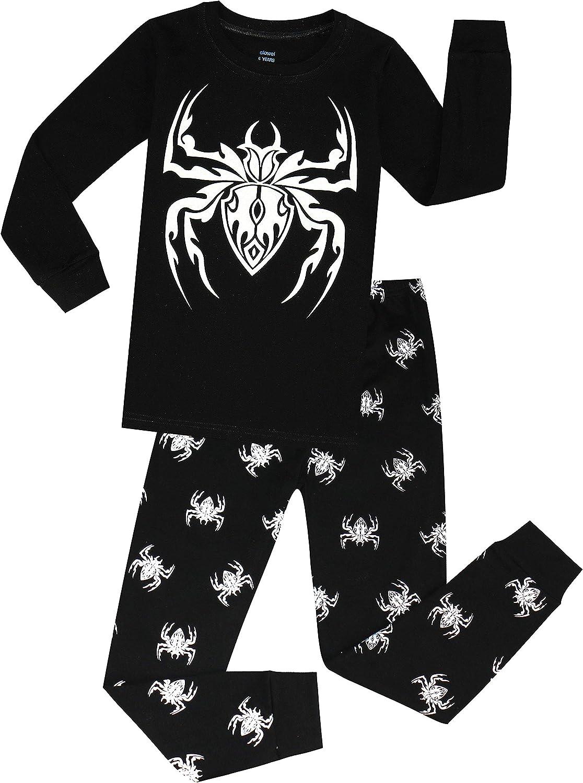 Size2Y-8Y Elowel Little Boys Fire Truck 2 Piece Pajama Set 100/% Cotton