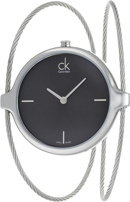 eb6f76d8d24 Calvin Klein Agile Black Dial Bangle Ladies Watch K2Z2S111  Amazon ...