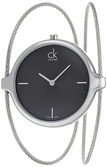 Calvin Klein K2Z2S111 - Reloj analógico de Cuarzo para Mujer con Correa de Acero Inoxidable, Color Plateado: Amazon.es: Relojes
