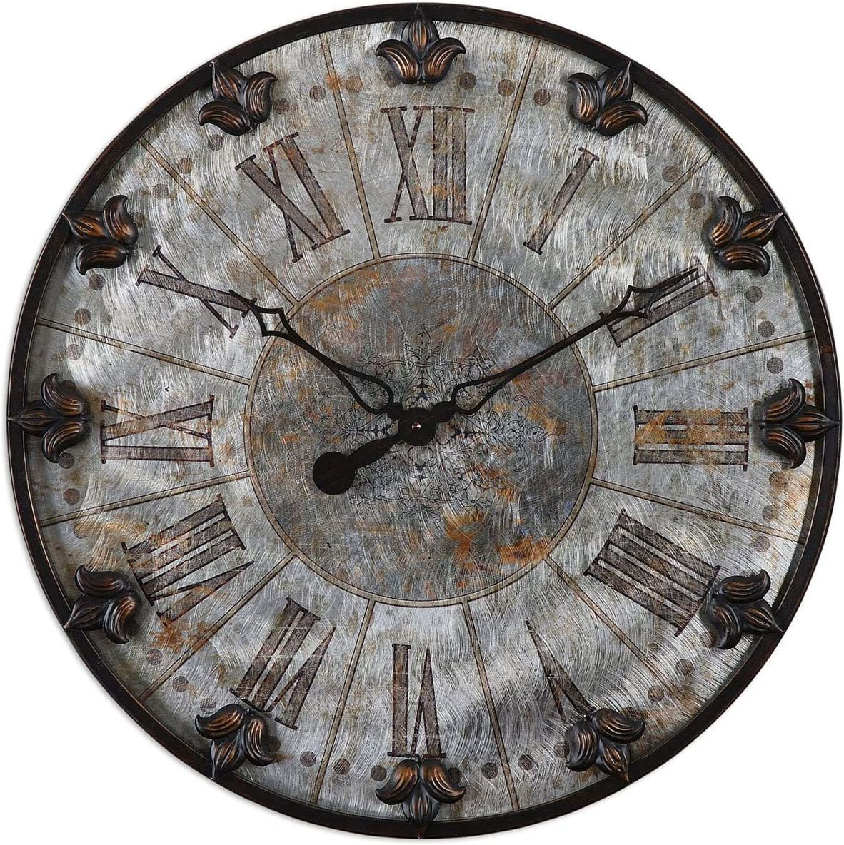Uttermost 6643 Artemis Antique Wall Clock, Bronze