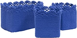 product image for Heritage Lace Mode Crochet Basket Set/3 w/Trim