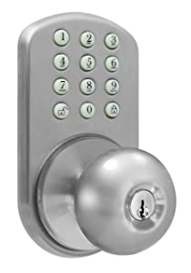 MiLocks TKK-02SN Digital Door Knob Lock with Keyless Entry via Keypad Code for Interior Doors