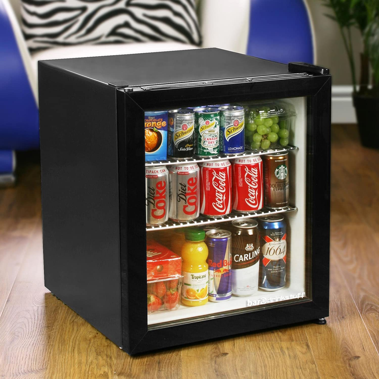 Bar@Drinkstuff Frostbite Mini Fridge Black  49Ltr Compact Refrigerator Holds