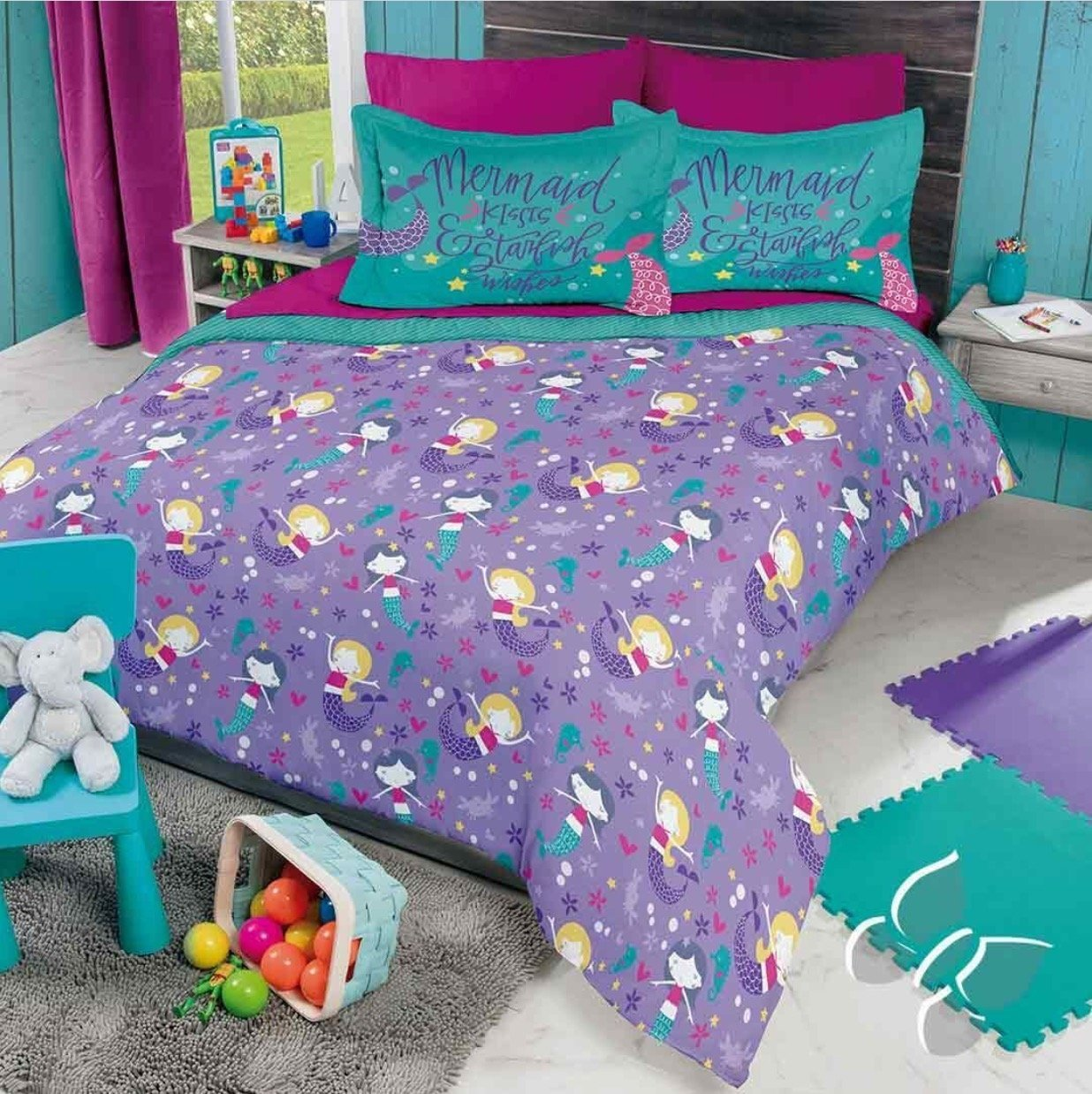 NEW PRETTY COLLECTION LITTLE MERMAIDS KIDS GIRLS REVERSIBLE ...