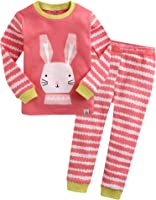 Vaenait baby 12M-7T 100% Cotton Kids Girls Rabbit Costume Sleepwear Pajama 2 Pieces  sc 1 st  Amazon.com & Amazon.com: Barara King Little Girls Rabbit Snug-Fit Pajamas 100 ...