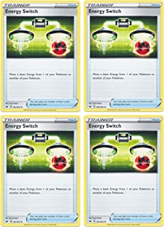 product image for Pokemon Card - Energy Switch - Sword and Shield Base - x4 Card Lot Playset - 162/202 Uncommon