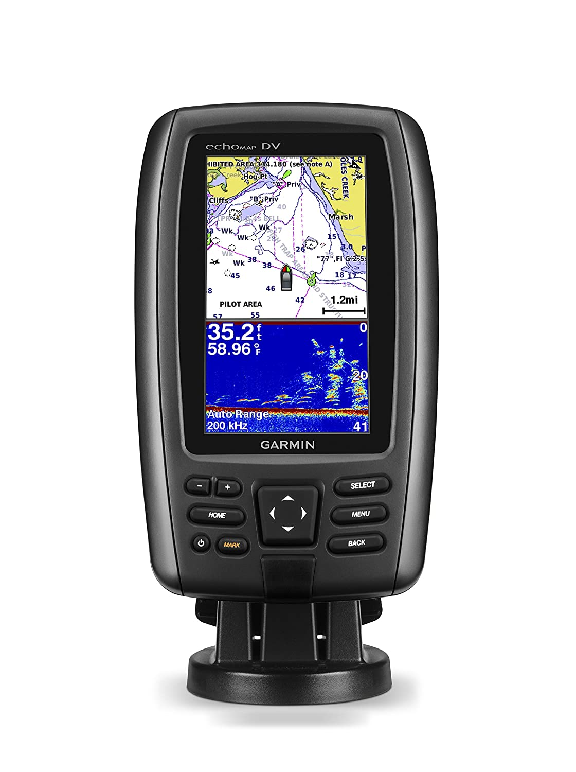 Garmin echoMAP CHIRP 44dv with transducer