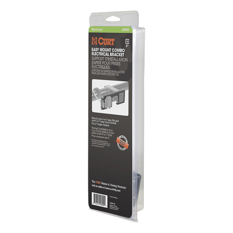 amazon com curt 58000 easy mount electrical bracket automotive