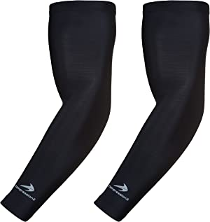 CompressionZ Compression Arm Sleeves for Men & Women UV Protection (Black, XL)
