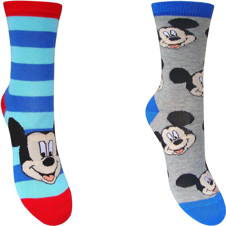 2 Pair Pack Kids Disney Mickey Mouse Character Socks