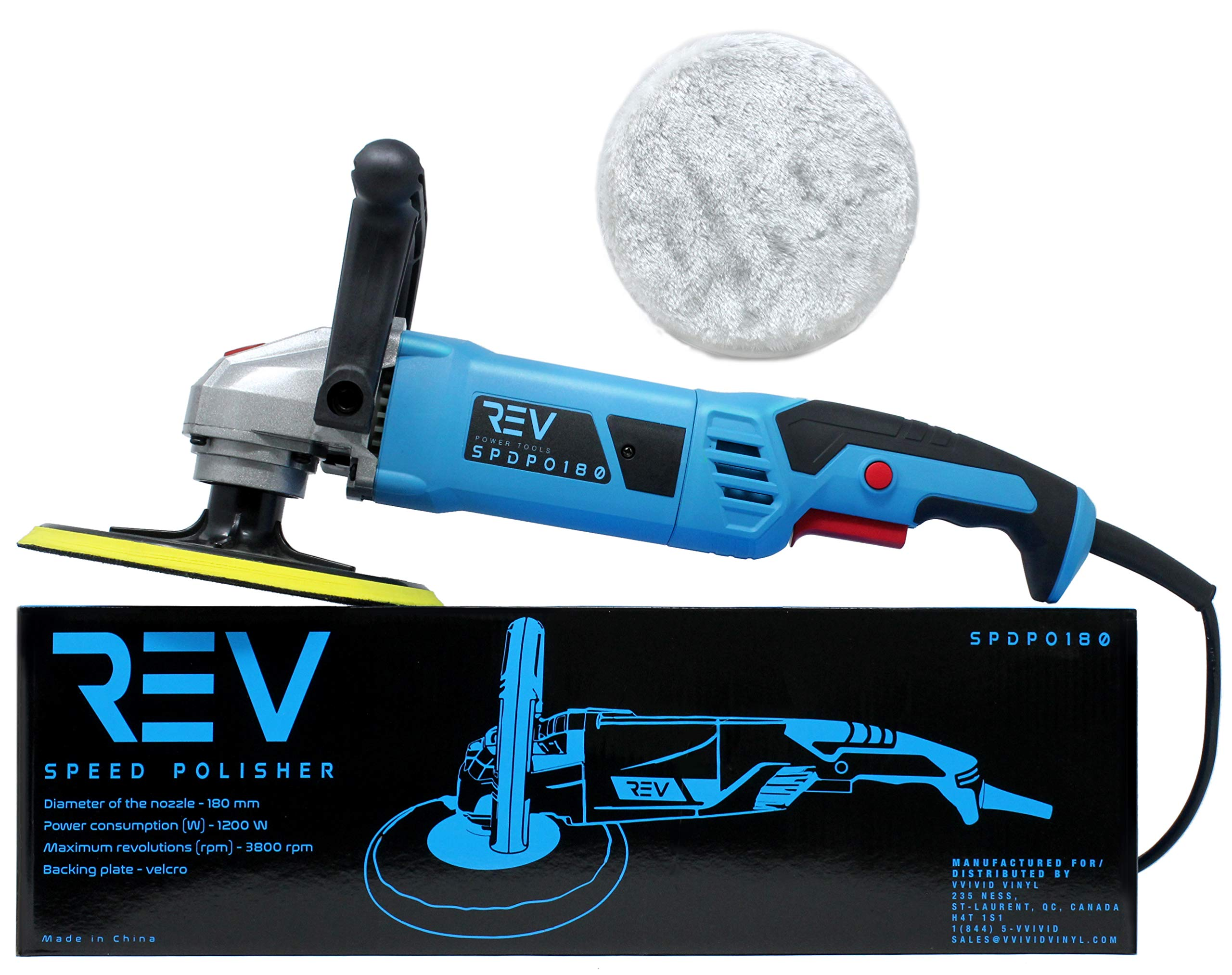 VViViD REV Hand-Held 6-Speed Polisher and Buffer 180 by VViViD