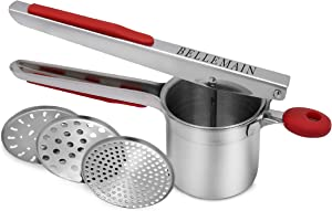 Top Rated Bellemain Stainless Steel Potato Ricer with 3 Interchangeable Fineness Discs