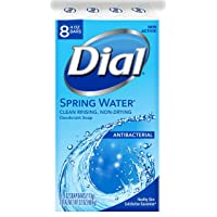 Deals on 8 Pack Dial Antibacterial Deodorant Soap Spring Water 4 Ounce Bars