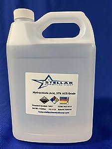 Stellar Chemicals | Hydrochloric Acid 37% Reagent Grade | 1 Gallon