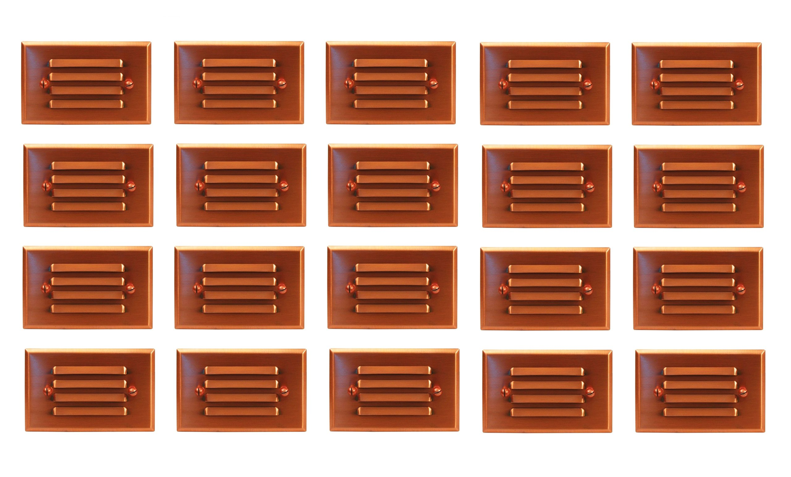 20 Pack Malibu 8421-2401-20 LED Half Brick Outdoor Deck Step Light Copper Finish BY MALIBU DISTRIBUTION by Malibu
