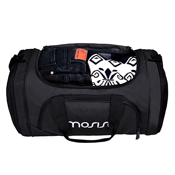 dbc0e73c01 MOSISO Polyester Fabric Foldable Gym Bag Sports Travel Overnight Duffels  Lightweight Athletic Sport Camping Shoulder Bag