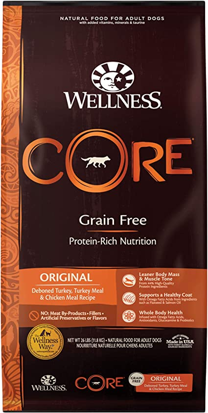 Wellness Core Natural Grain-Free Dry Dog Food - Best Dry Dog Food for Diabetic Dogs