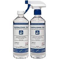 Hand Alcohol Desinfectie Spray 70% Gedenatureerd met IPA, MEK en Bitrex - 500 ml met spraykop + 500 ml met dop