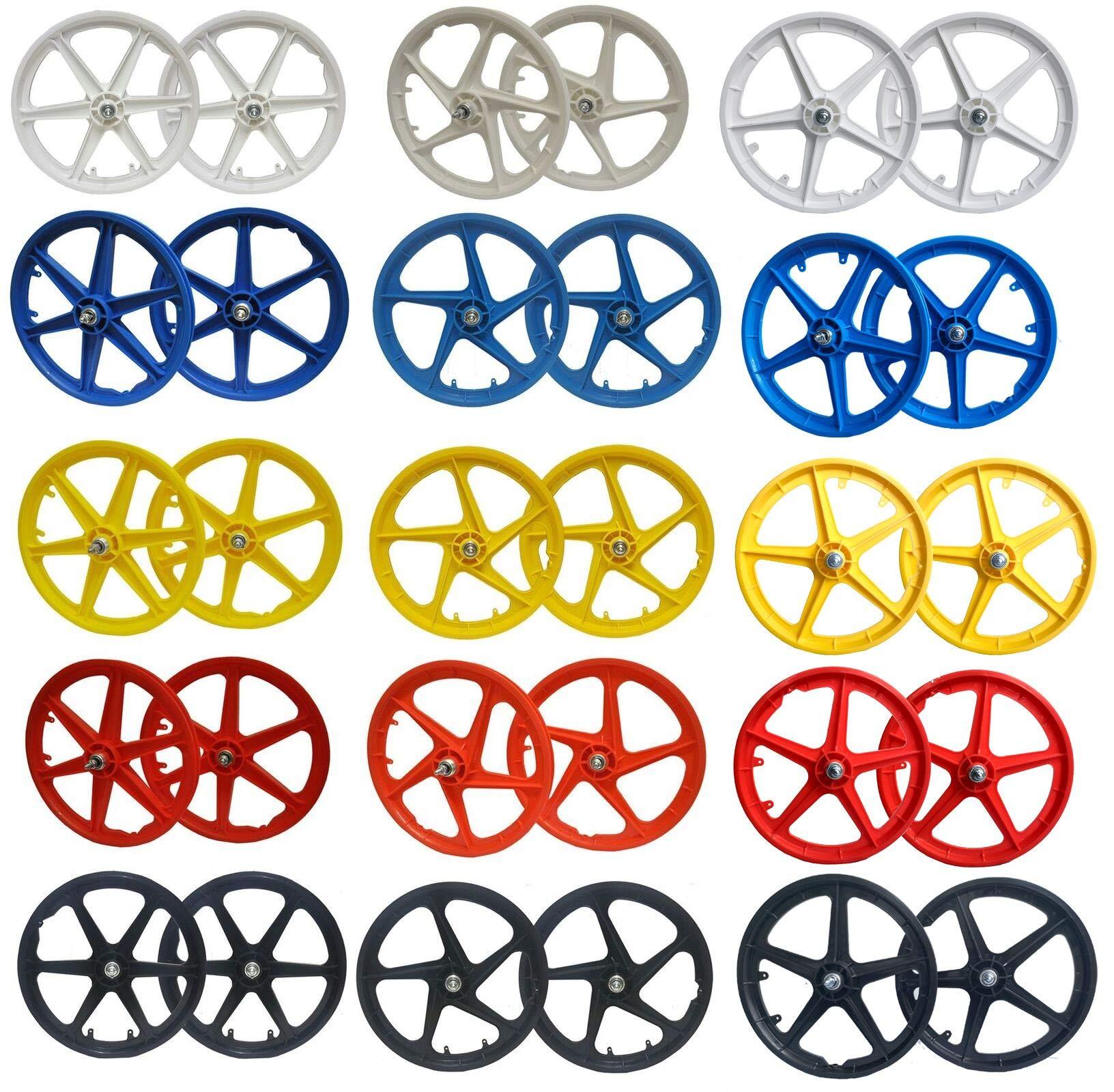 "TRINITY 20"" BMX Mag Wheels Front Rear 5 Spoke or 6 Spoke & Aero Designs Freestyle Wheel Sets"